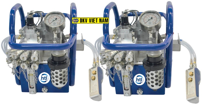 bom co le thuy luc HTL-PHP, Air hydraulic torque wrench pump HTL-PHP